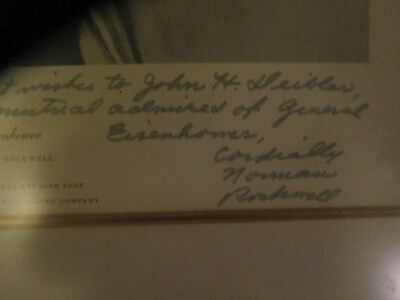 Dwight D. Eisenhower signed Norman Rockwell