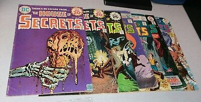 house of secrets 7 issue bronze age dc horror comic lot run set movie collection