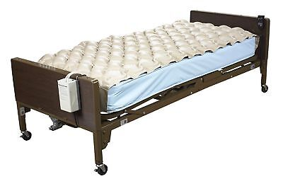 Hospital Medical Bed Mattress Air Pad Padding Inflatable Topper wt Pressure Pump