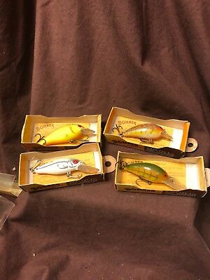 Vintage Lot Of Four Bomber Diving Fishing Lures New In Original Boxes Lot b