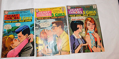 3 Heart Throbs DC comics 107, 108, 111 from 1967