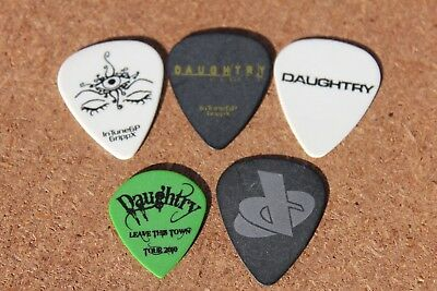 Daughtry Authentic Guitar Pick Lot Chris Daughtry Josh Steely Brian Craddock