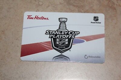 Tim Hortons Stanley Cup Playoffs 2016 Gift/tim Card New Fd51883 Cad Empty