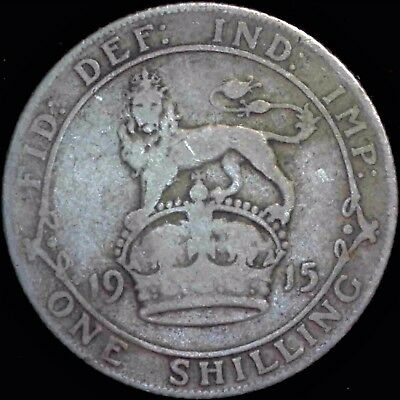 1915 Great Britain Sterling Silver Sixpence  Free Shipping