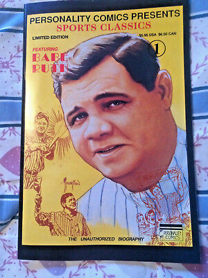 1991 Personality Comics Classics #1 Babe Ruth NM Limited Ed. Signed 606/4000