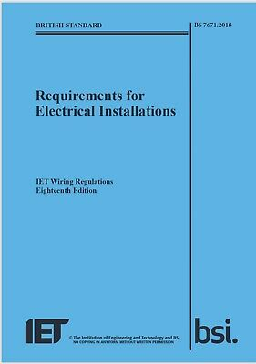 BS 7671:2018 IET Wiring Regulations 18th Edition Electrical PDF book Regs New