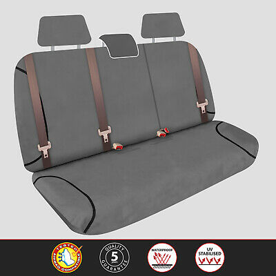 Custom Grey Canvas Rear Seat Covers For FORD RANGER PJ PK XLT DUAL CAB 2007-2008