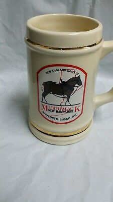 Vintage Stein Merrimack New Hampshire New England Home of Anheuser-Busch mug