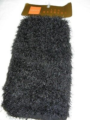 Black Furry & Fluffy Leg Warmers