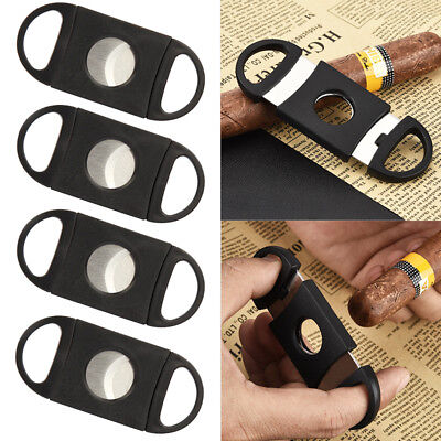 NEW Stainless Steel Pocket Cigar Cutter Knife Double Blades Scissors Shears