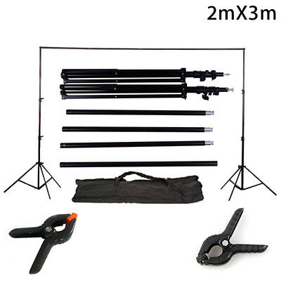 10Ft Heavy Duty Adjustable Photography Background Support Stand Kit With Bag
