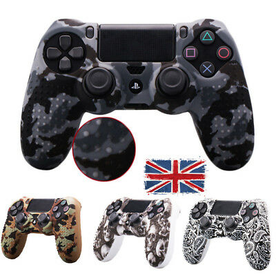 Camouflage Soft Case Skin Grip Cover For PlayStation 4 PS4 Controller Rubber UK