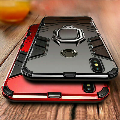 For Huawei P30 Lite P20 Pro Hybrid Stand Ring Holder Hard Magnetic Case Cover