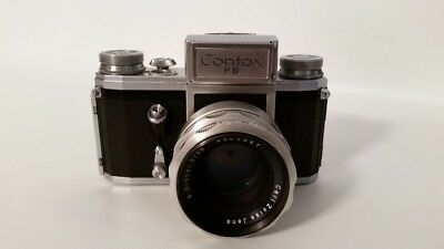 Contax FB Camera With Carl Zeiss Jena lens Zeiss Biotar 2/58mm and Cases