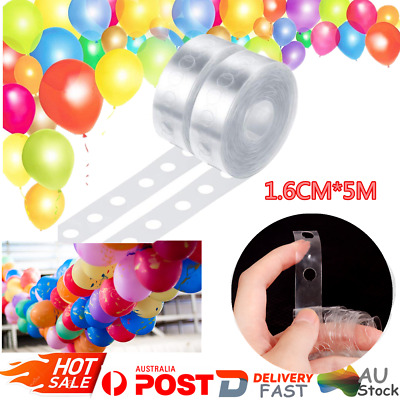 5M Balloon Decorate Strip Arch Garland Connect Tape DIY Chain Party Bar Decor