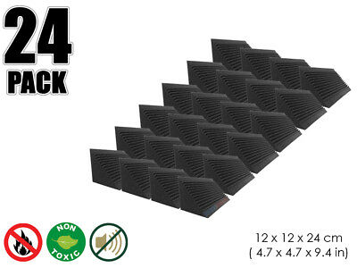 Hobby Dash 12 x 12 x 24 cm Multi-Cut Bass Trap Acoustic Studio Foam Panel 24 pcs