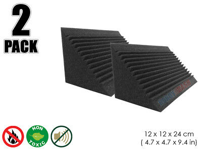 Hobby Dash 12 x 12 x 24 cm Multi-Cut Bass Trap Acoustic Studio Foam Panel 2 pcs