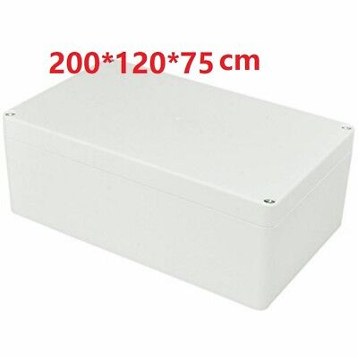 ABS PLASTIC ELECTRONICS PROJECT BOX ENCLOSURE HOBBY CASE SCREW 7.6''x4.5''x2.7''