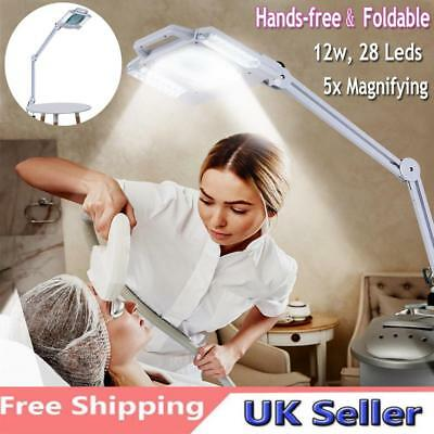 5X Diopter Illuminated LED Magnifying Lamp fr Modelling Medical Beauty Tattoo UK
