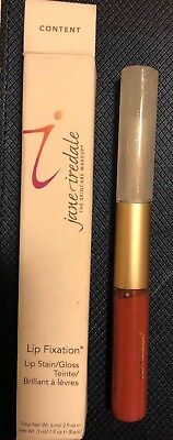 JANE IREDALE Lip Fixation. CONTENT. ( Lip Stain / Gloss ) 0.2 fl oz. New in Box.