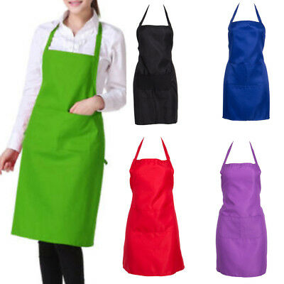 Adjustable Bib Apron Dress Men Women Kitchen Restaurant Chef Classic Cooking Bib