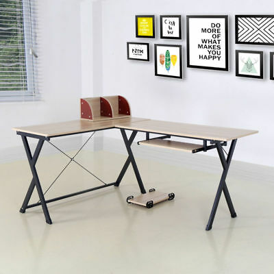 Office Computer Laptop Wooden Desk Study Table Workstation Home Furniture Xmas