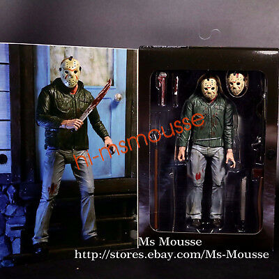"""NECA Friday the 13th Part 3 Jason Voorhees Ultimate 7"""" Action Figure 3D 1:12 New"""
