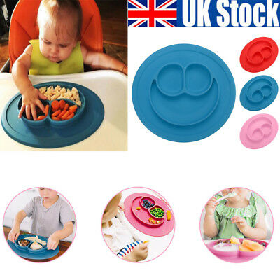 Cute Bowl Silicone Mat Baby Kid Suction Table Food Tray Placemat Plate Xmas Gift