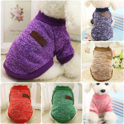 Pet Clothes SWEATER Chihuahua Yorkie Small Dog Coat Jacket Fleece Soft Warm UK
