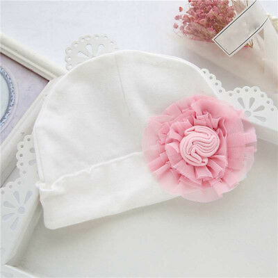 Baby Girl Hat Infant Toddler Cotton Large Flower Cap Baby Photography Props 8C