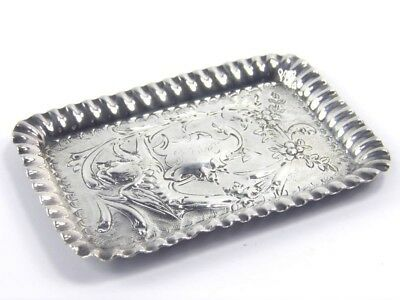 Antique .925 sterling silver sewing pin tray A & J Zimmerman Birmingham 1901