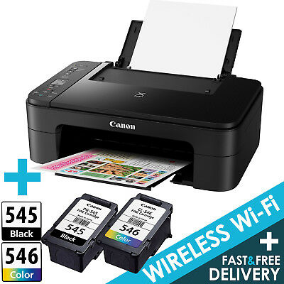Canon PIXMA TS3150 All-in-One Wireless Inkjet Printer + Canon Inks + USB Cable