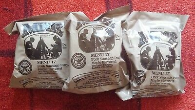 3 Stück MRE, Meal ready to eat, US-Army