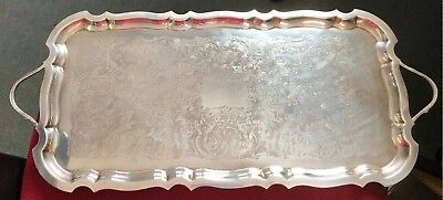 Old Sheffield Silver Plated (555) Tray with Handles - Large