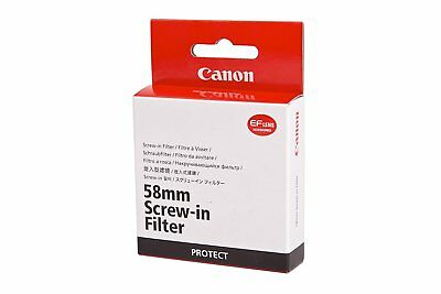 Genuine Canon 58mm Protect Screw Filter inc VAT
