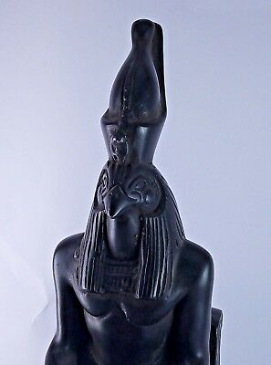 RARE ANCIENT EGYPTIAN HORUS SIT STATUE Stone 1428-1125 BC