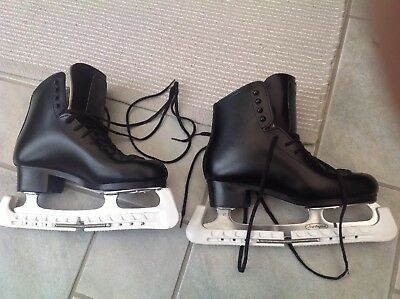 Gam Mens Size 7.5 Figure Skating Boots Excellent Condition