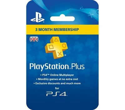 SONY PlayStation Plus 3 Month Subscription - Currys