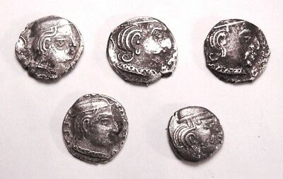 ANCIENT INDIA. GUPTAS. 5 SILVER DRACHMS. Ref. 2287.