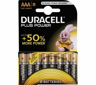 DURACELL LR03/MX2400 Plus Power AAA Alkaline Batteries - Pack of 8 - Currys