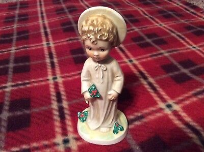 """Vintage Goebel Christmas Jesus """"Christchild with Holly"""" 5"""" tall 1959 #406"""