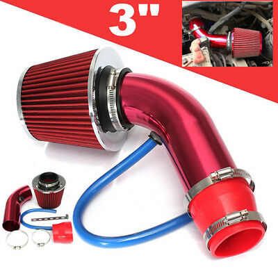 Universal Car Cold Air Intake Filter Alumimum Alloy Induction Kit Pipe System*tr