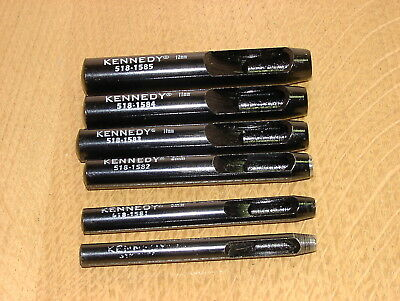 Kennedy Hollow Steel Punches 5mm to 12mm Leather, Plastic