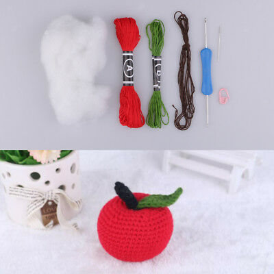 DIY Apple Doll Toy Crochet Kits Knitting Craft with Supplies for Kids Child
