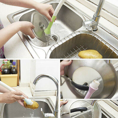 74A3 Wash Tool Cleaner Brush With Water Rotatable Faucet Connect Useful Cleaning