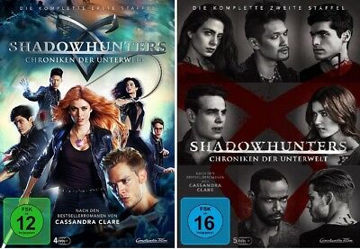 9 DVDs * SHADOWHUNTERS - DIE KOMPLETTE SEASON / STAFFEL 1 + 2 IM SET # NEU OVP +