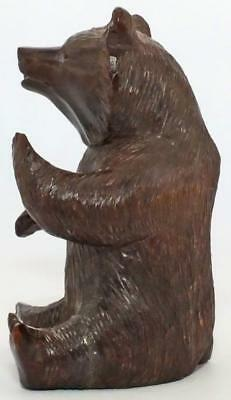 Excellent Antique Carved Treen Wooden Black Forest Swiss Bear 5.1""