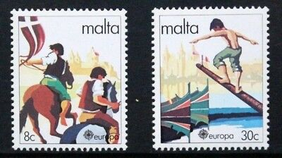 MALTA 1981 Europa: Folktales. Set of 2. Mint Never Hinged. SG659/660.