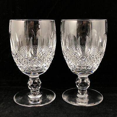 2 Waterford Crystal Colleen Claret Wine Glasses Short Stem Stemware 4 3/4