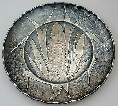 Ear Of Corn Aesthetic Wood Hughes Sterling Acid Etched Figural Cracker Tray 1885